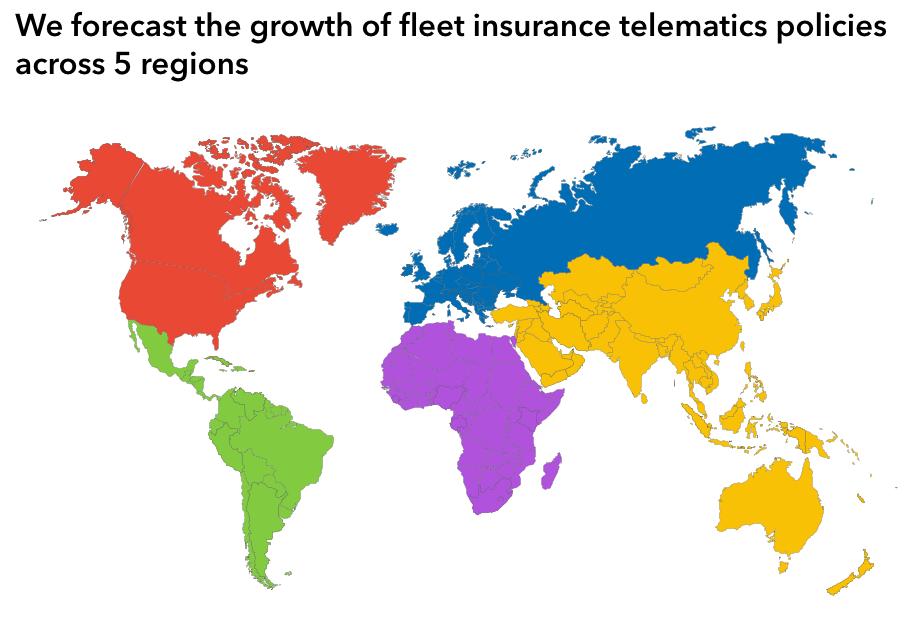 fleet insurance telematics Forecast regions